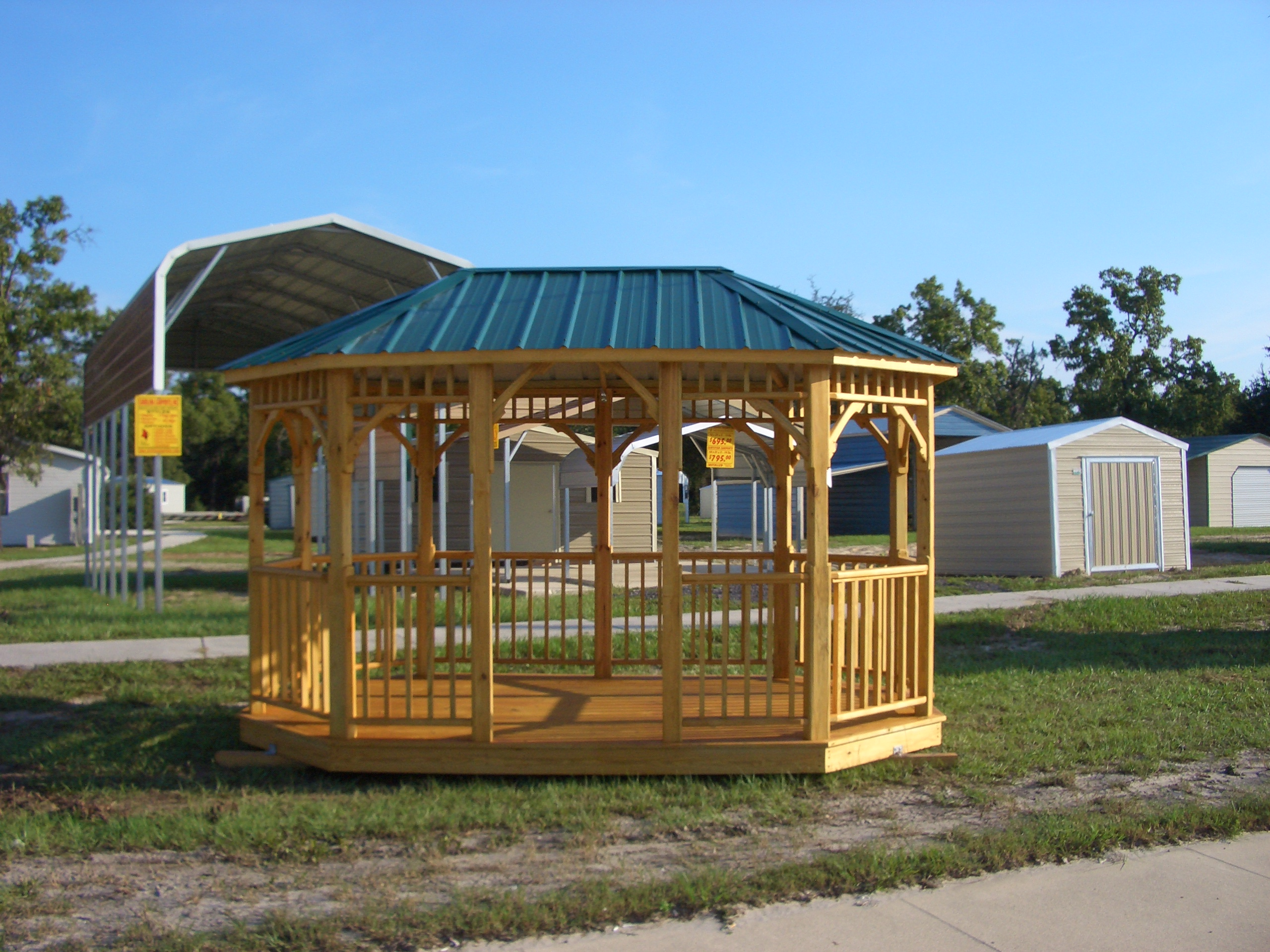 Economy Enclosed Carport : Myhandihouse gazebos